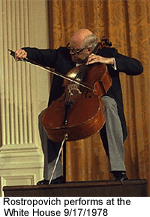 Rostropovich at White House