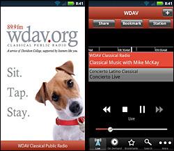 WDAV Classical Public Radio app
