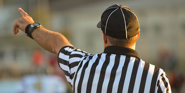 Football umpire - by Nathan Shively