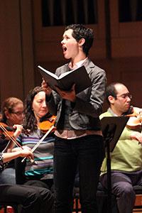 Oratorios singers practice Handel's Messiah