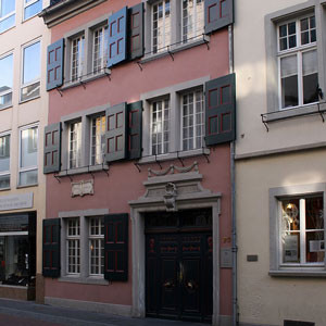 Beethoven's house of birth in Bonn, Germany. It now serves as the Beethoven House Museum.