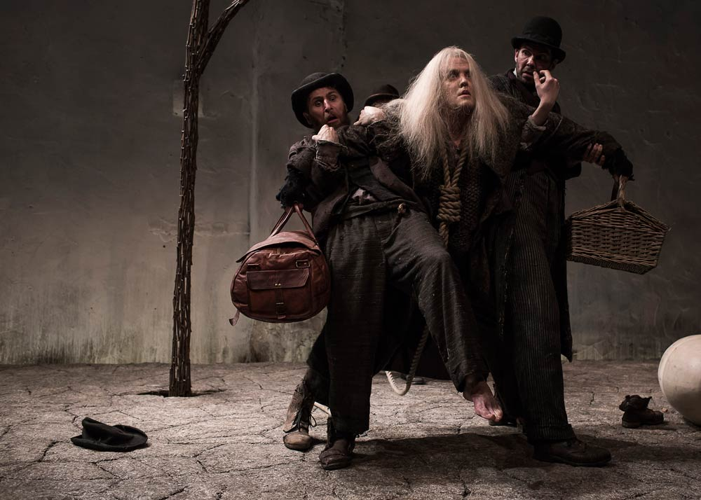 Druid's Aaron Monaghan, Garrett Lombard, and Marty Rea in Samuel Beckett's Waiting for Godot.