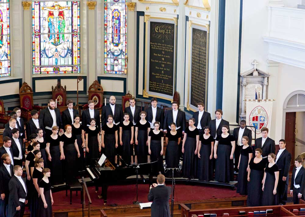 Westminster Choir perform at the Cathedral Church of St. Luke and St. Paul.