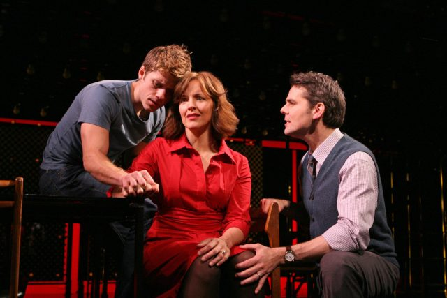 (L-R) Aaron Tveit as Gabe, Alice Ripley as Diana and J. Robert Spencer as Dan at Arena Stage in Crystal City through January 18, 2009.