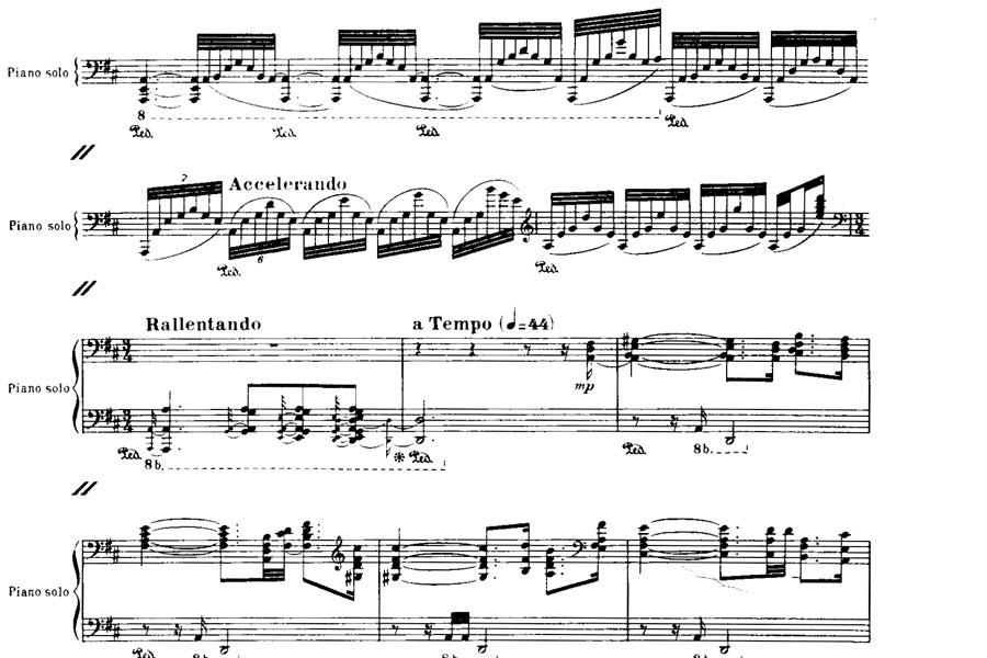 Portion of Ravel's Piano Concerto for the Left Hand