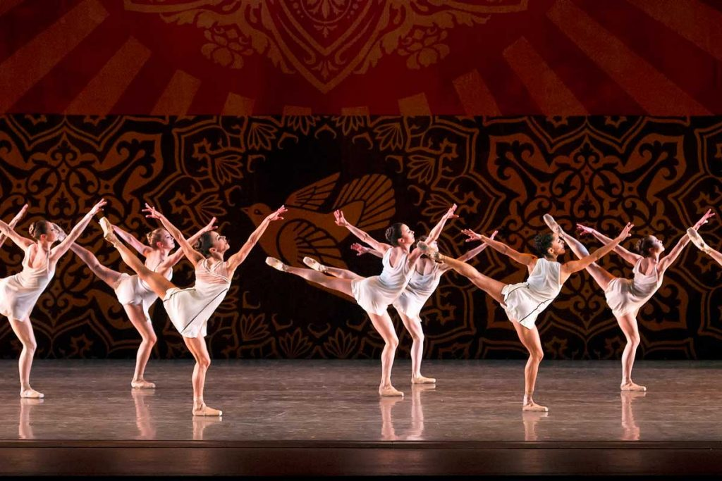 Members of Miami City Ballet in Justin Peck's Heatscape.