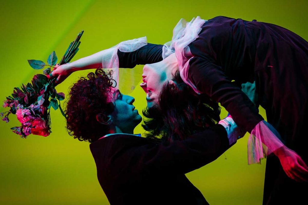 "Marc Antolin and Daisy Maywood in Kneehigh's ""The Flying Lovers of Vitebsk"""