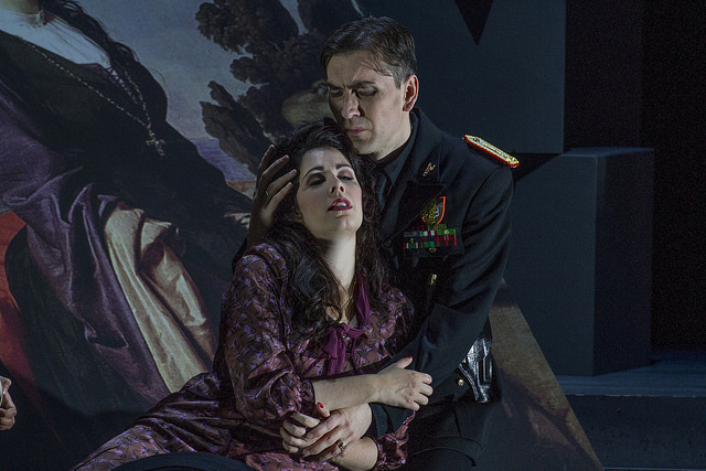 Amanda Woodbury and Valdis Jansons in the US premiere of Donizetti's Pia de' Tolomei. Photo by William Struhs.