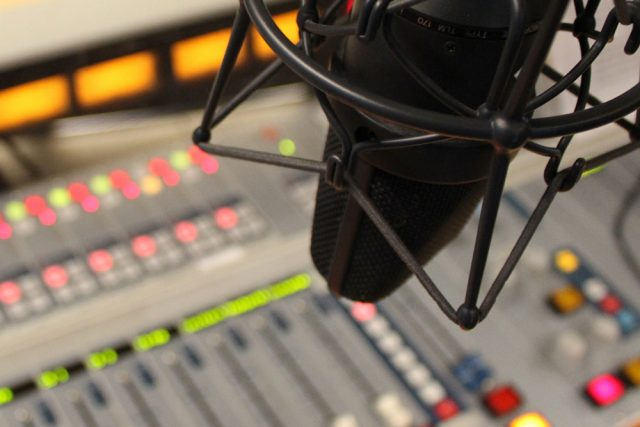 Microphone and soundboard