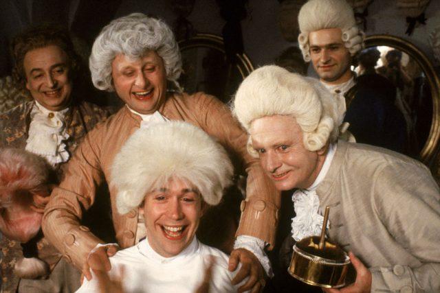 Tom Hulce & Karl-heinz Teuber in Amadeus (1984)