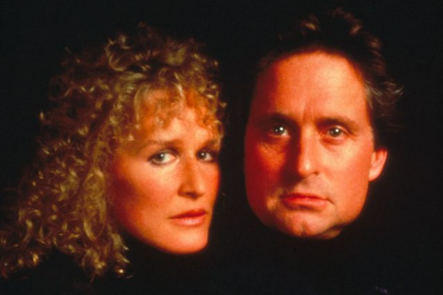Glenn Close & Michael Douglas in Fatal Attraction.