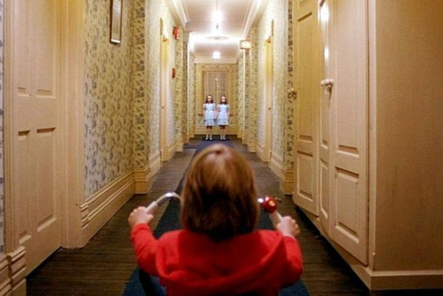 "Louise Burns, Danny Lloyd & Lisa Burns in ""The Shining"" (1980)"