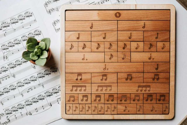 Music fraction bars, musical notes, musical rests, classical conversations, educational toys