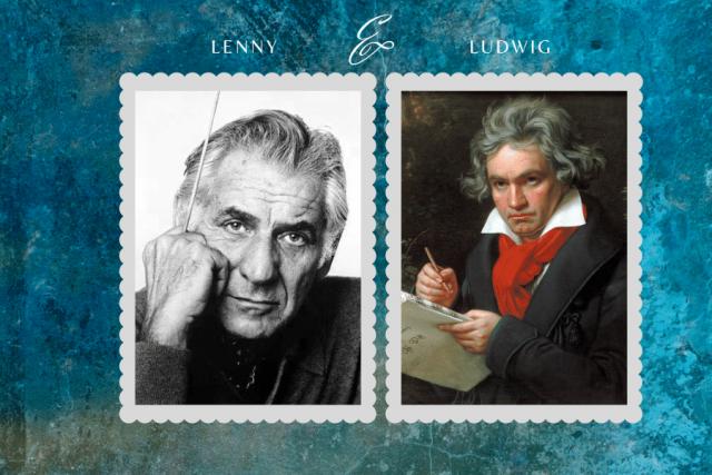 Leonard Bernstein and Ludwig von Beethoven
