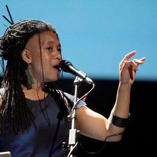 Pamela Z Photo by rubra (courtesy of Ars Electronica)