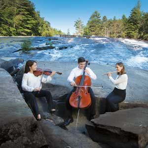 Brevard Music Center Students at a Waterfall. Photo by Steven McBride.